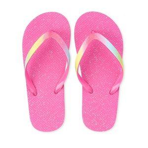 NWT Children's Place Pink Glitter Flip Flops 3/4